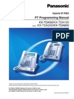 Panasonic KX-TDA Programming Manual