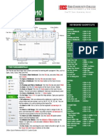Excel Quick Reference 2010