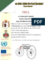 Certificato 08 GRAN PRIORATO MAGISTRALE DEL NEVADA U.S.A.
