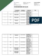 Cronograma de Aulas Novo Orto II