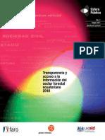 Informe de transparencia y acceso a la información del sector forestal ecuatoriano 2010