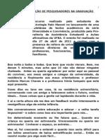 SOBRE A FORMAÇÃO DE PESQUISADORES NA GRADUAÇÃO - Ítalo Mazoni