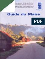 Guide du maire (PNUD - 2001)