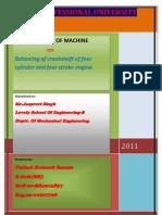 balancing of crankshaft of four cylinder engine,dynamics of machine,ratnesh raman pathak,lpu