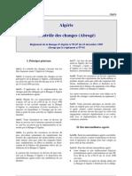 Algerie - R.1995-07 Reglementation Des Changes