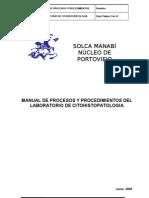 Manual de Procesos y Procedimientos Del Lab Oratorio de Citohistopatologia