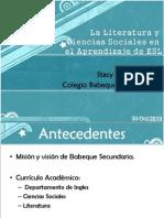Presentacion Literatura y Ciencias Sociales en El Aprendizaje de Ingles