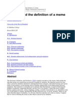 Imitation and the Definition of a Meme - Blackmore