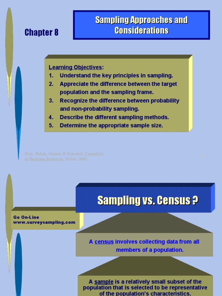 Sampling | Sampling (Statistics) | Evaluation Methods