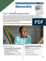 Learning English classroom materials May Advanced