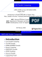 Parallel Matlab 2010