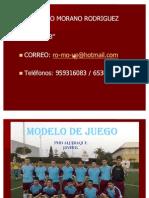 MODELO DE JUEGO. Venancio Morano