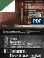 Orhon Yazıtlarının Bulunuşundan 120 Yıl Sonra Türklük Bilimi ve 21. Yüzyıl konulu 3. Uluslararası Türkiyat Araştırmaları Sempozyumu Bildiriler Kitabı 2. Cilt