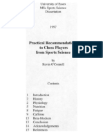 O'Connell - Practical Recommendations to Chess Players From Sports Science (1997)
