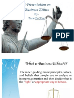 A Present a Ion on Business Ethics Roger