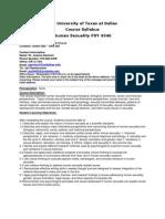 UT Dallas Syllabus for psy4346.001.11f taught by Joanna Gentsch (jgentsch)