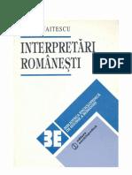 Panaitescu-Interpretari