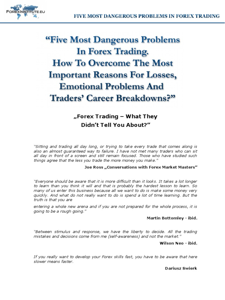 what are the main causes of failure in forex