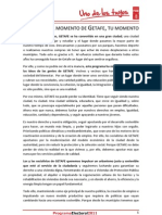 Programa Electoral PSOE Getafe 2011