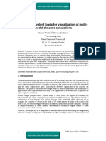 Fatigue equivalent loads for visualization of multi-modal dynamic simulations
