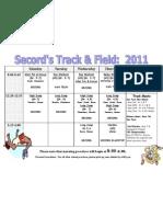 2011 Track Schedule