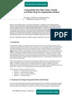Design of an Expandable Base Pipe Using a Genetic Algorithm-Based Multi-Objective Optimization Method