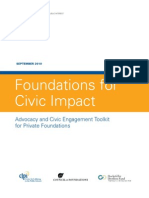 Civic Engagement Toolkit Private Foundations
