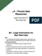 b4 Legal Information for New Start Ups
