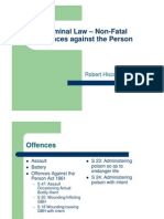 Crime Lecture - Non-Fatal Offences Against the Person