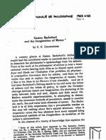 Christofides, Bachelard and the Imagination of Matter