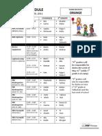 ORANGE 5.9 Schedule