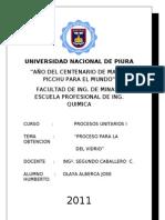 1.- Proceso Del Vidrio