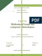 méthode d'étude des polyphenols