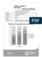 Reporte personal EVALUACIÓN DEL TALENTO Y EXONERADOS 2010-2