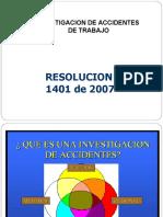 Investigacion a.t. Resolucion 1401