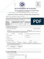 SJUT - Application Form 2011-12