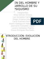El Origen Del Hombre y El Desarrollo de Su Psiquismo Trabajo Final