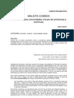 Um estudo sobre comunidades virtuais de anoréxicas e bulímicas