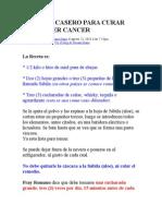 Receta Curar El Cancer