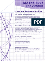 Maths Plus VELS Scope and Sequence Booklet