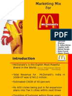 13142703 Marketing MixMcdonalds India