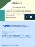 tn1297-1 - ölçüm belirsizliği