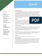 Omni-ID Corporate Backgrounder
