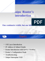 Maipu ROUTER Series Ppt