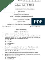 CS2255-DATABASEMANAGEMENTSYSTEMSAPRIL-MAY2010