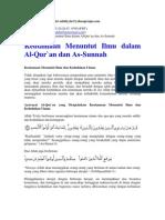 Keutamaan Menuntut Ilmu Dalam Al-Qur`an & as-Sunnah