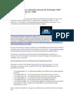 Instalación de los requisitos previos de Exchange 2007 en Windows Server 2008