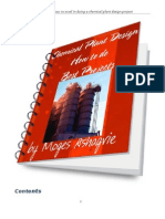 A New eBook- Chemical Engineering Plant Design Project, How To
