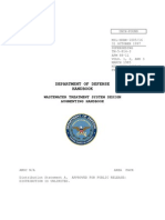 Waste Water Treatment System Design - Dod 1997 Handbook