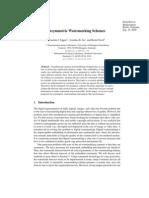 Assymetric Watermarking Schemes